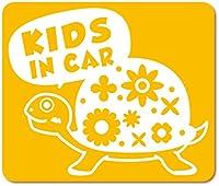 imoninn KIDS in car ステッカー 【マグネットタイプ】 No.53 カメさん (黄色)