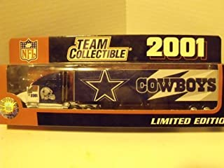 2001 NFL Dallas Cowboys 1:80 Scale Die-cast Tractor Trailer Limited Edition by White Rose Collectibles