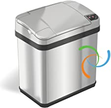 iTouchless 2.5 Gallon Garbage Fragrance, Touchless Automatic Bin, Perfect for Bathroom and Office Trash Cans with AbsorbX ...
