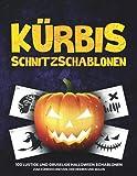 Kürbis Schnitzschablonen: 100 lustige und gruselige Halloween Schablonen