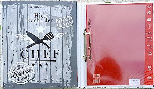 Rezepte Ordner A4 VELOFLEX® Register Einlagen / 5141271 Chef ...