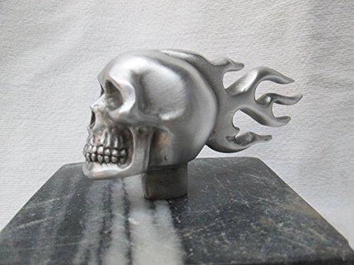 Vintage Harley Flaming Skull, Hotrod, Car Hood Ornament