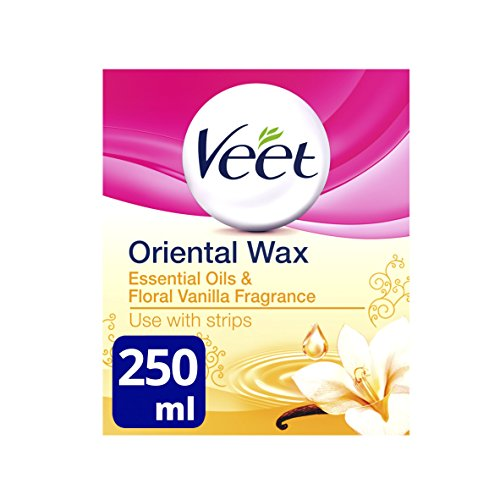 Veet Essential Oils and Floral Vanilla Warm Wax Microwavable Jar, 250ml