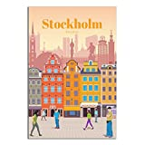 Vintage-Reise-Poster, Stockholm, Schweden, Leinwand-Kunst,