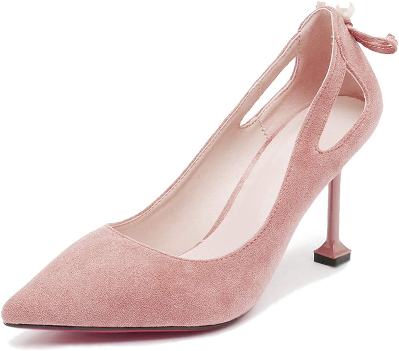 Women's Pumps,Solid color Temperament Kitten Heel Pointed Toe Dress shoes