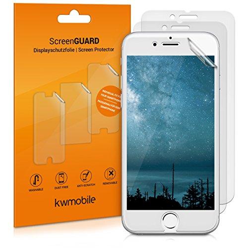 kwmobile 3X Pellicola Protettiva per Display Opaca e ANTIRIFLESSO Effetto Anti-Impronte Compatibile con Apple iPhone 6 / 6S / 7/8 (più Piccola del Display, perché è ricurvo)