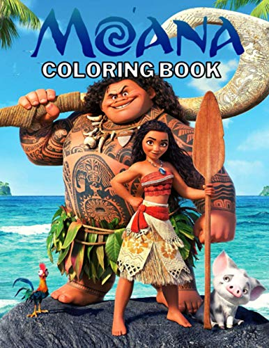 Moana Coloring Book: Perfect Gift For Fans Of Moana, This Beautiful Moana Coloring Book for kids 3-10