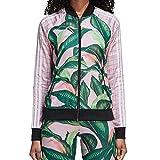 adidas Originals Women's Farm Superstar Tracktop, green/pink, XS