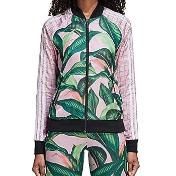 adidas Originals Women s Farm Superstar Tracktop green/pink XS