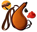 Bota Bag – 750ml Spanish Wine Skin – Leak-Proof Premium Leather Canteen with Rigid Heavy-Duty BPA-Free Bladder Liner, Adjustable Shoulder Strap and No-Spill Funnel