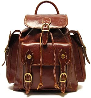 Floto Leather Roma Pack in Vecchio Brown - backpack