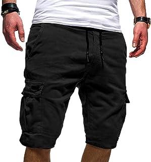 a7a5678eb333 VPASS Pantalones Hombre Verano Moda Pop Casual Trabajo Corta Pantalones  Pants Jogging Color sólido Deportivo Pantalon