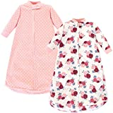 Hudson Baby Unisex Baby Long Sleeve Fleece Sleeping Bag, Floral, 0-9 Months