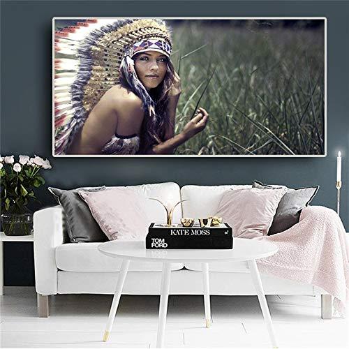 N / A Wandkunst Bild Leinwand Kunst Wohnzimmer Wandkunst rahmenlose Malerei 60cmX120cm