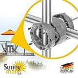 4smile Sonnenschirmhalter Balkongeländer – Sunnyman 2.0, der Alleskönner – Platzsparender und...