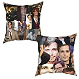 Yuanmeiju Throw Pillow Cases 2 Pieces Mat-Thew Gr-Ay Gub-Ler Cushion Cover Sofa Decor Pillowcases 12'X12'