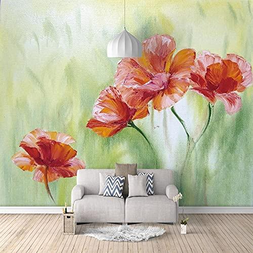 Papel Pintado Pared Flores Amapolas Marca XSYHBK