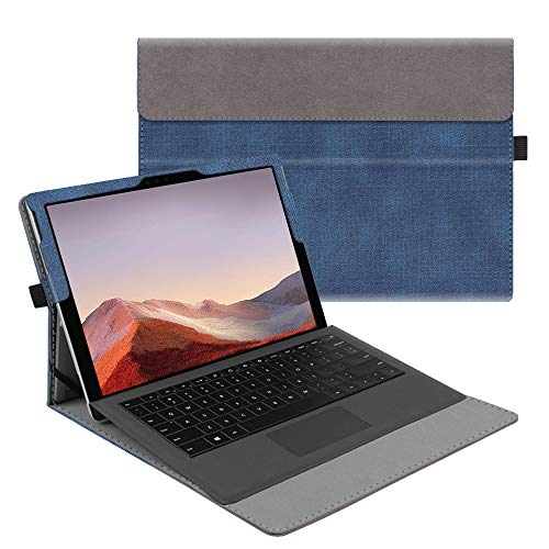 Fintie Case for New Microsoft Surface Pro 7 / Pro 6 / Pro 5 / Pro 4 / Pro 3 12.3 Inch Tablet - Multiple Angle Viewing Portfolio Business Cover, Compatible with Type Cover Keyboard (Denim Indigo)