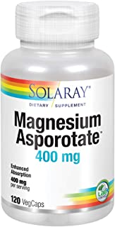 Solaray Magnesium Asporotate 400 mg | Aspartate, Orotate & Citrate Complex | Healthy Heart, Muscle, Nerve & Circulatory Function Support | 120 VegCaps