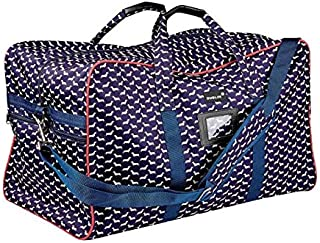 Dublin Imperial Hold All Bag Dog Print Navy/Red