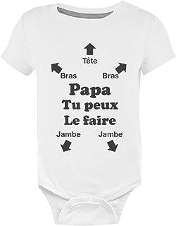 91d32c86a3c4b Green Turtle T-Shirts Papa Tu Peux Le Faire ! Futur Papa Naissance Body Bébé