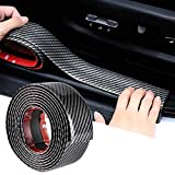 Car Sticker Carbon Fiber Rubber Door Entry Guards Scratch Cover Protector Paint Threshold Guard,Car Bumper Door Guard/Rear Bumper Guard Scratch Scratch Protection Strip (Black)