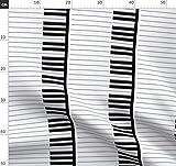 Klavier, Musik, Schlüssel Stoffe - Individuell Bedruckt