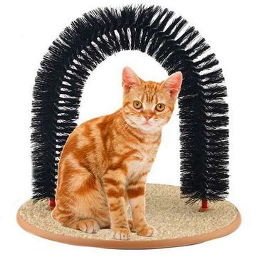 Cat Self-Groomer Arch Bristles Kitten Massager Scratcher Carpet - Cat Cat Cleaning & Grooming - 1 x...