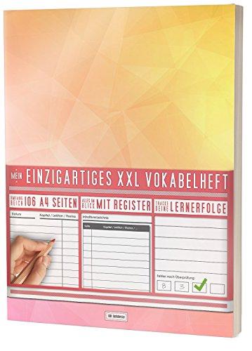 """Mein Vokabelheft / 100+ Seiten, 2 Spalten, Register / Lernerfolge auf jeder Seite zum Abhaken / PR101 \""""Triangle\"""" / DIN A4 Softcover"""