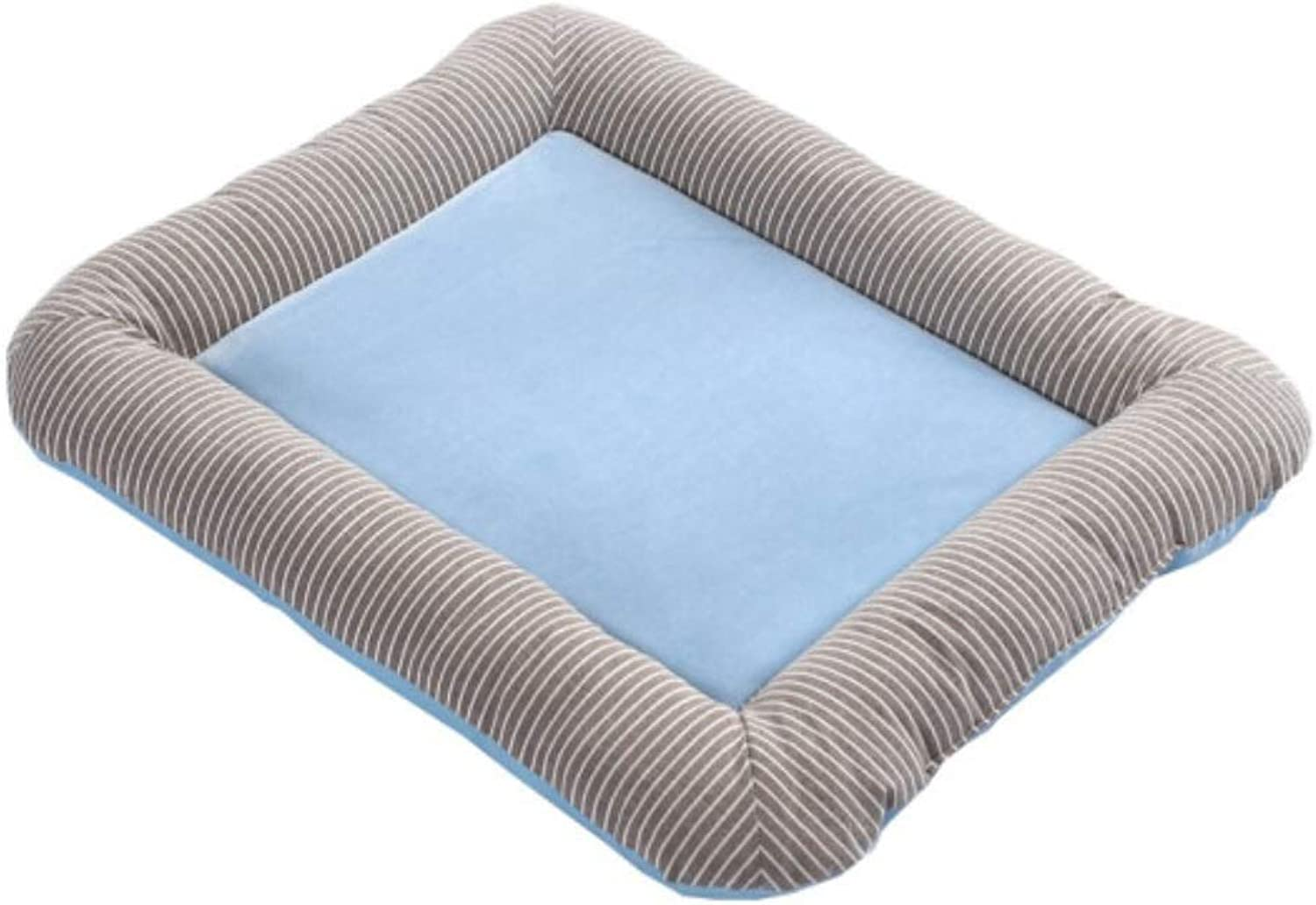 Fashion Rectangle Pet BedMultiple colors, Sizes, and Styles Available,Cuddly Pet Bed with Durable Fabrics,Blanket for Warmth and Security (color   bluee, Size   L)