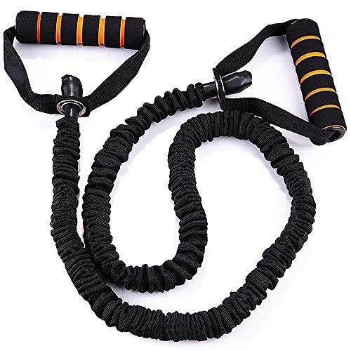 PLMOKN Home Elastic Latex Pull Rope Fußpedal Sit Up Bauch Bein Übungsbänder Abnehmen Bodybuilding Gym Arm Taille Krafttrainingsausrüstung(Black)
