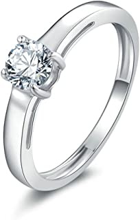 IHAZA aux femmes Ellipse Fian/çailles Engagement Anneaux Bijoux G/éom/étrique Type diamant Bague