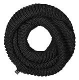 Bufanda unisex negro Talla única