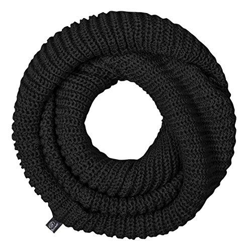Brandit - sciarpa loop in maglia Unisex, sciarpa tubo, sciarpa nero Taglia unica