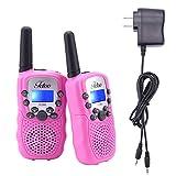 Fetoo Walkie Talkie für Kinder PMR446 mit Akkus Ladekabel 0,5W 8 Kanäle Vox Taschenlampe Funkgeräte (2er-Set, Blau)