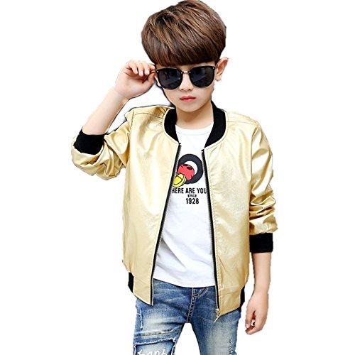 Boys Bomber Jacket 10-12 (Gold, 8)
