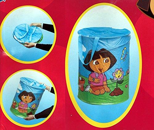 Gran bolsa de almacenamiento Pop Up decoración • DORA LA EXPLORTRICE • Baúl de juguete • Caja plegable