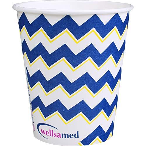 wellsamed 150138 Wellsacup Mundspülbecher Papier, Zick-Zack, 1000er, Polymerbeschichtet