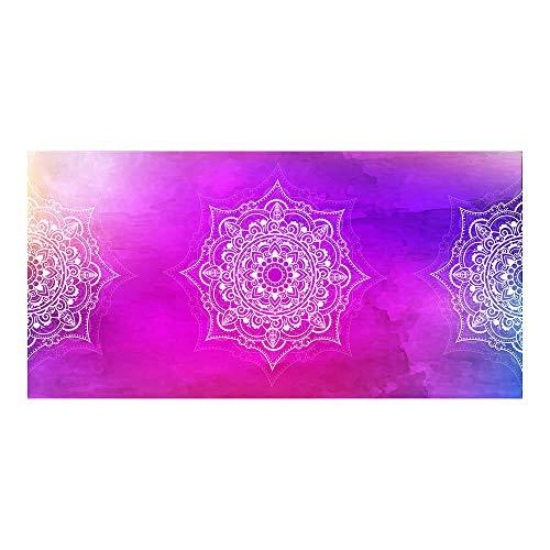 Toalla de Playa de Microfibra de Gran tamaño Mandala púrpura Estera de Yoga de Secado rápido Manta de baño de natación Deportiva Violet_80x160cm