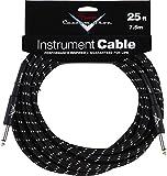 """Fender®""""Custom Shop"""" Câble Instrument - 7.5m - Droit/Droit - Noir Tweed, 990820039"""