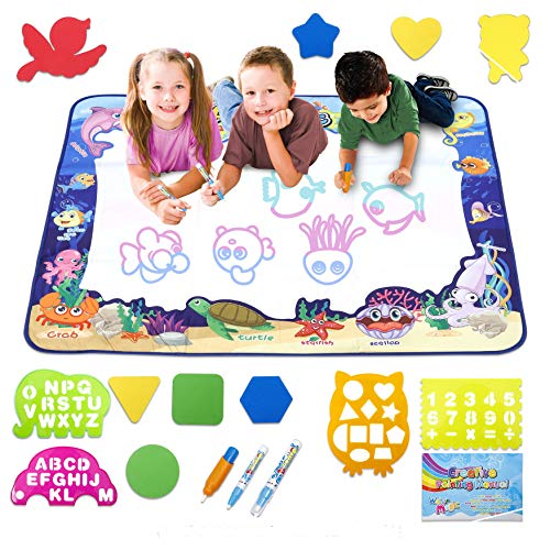 New Extra Large 39.5'x31.5' Aqua Magic Water Doodle Drawing Mat for Toddlers,Perfect Educational...