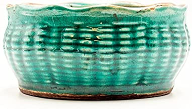 Bourbon Maple Sugar French Farmhouse Bowl Swan Creek Candle (Color: Turquoise)