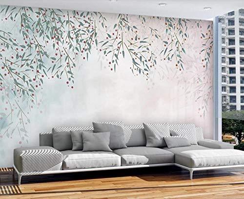 Wallpaper 3D Watercolor Green Leaves Modern Custom Wall Mural Photo Wallpaper Murals