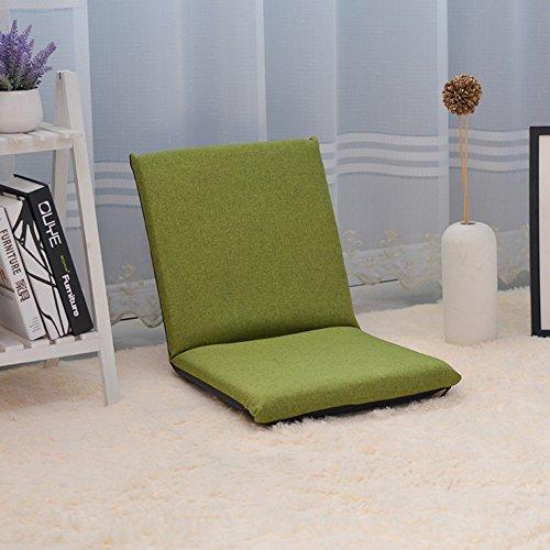 Private home textiles Canapé Paresseux,Pliable Mini canapé,Divan-Lits Individuel Balcon Fenêtre Flottante Chaise de Plancher Canapé Pliant Chaise de Dossier-Vert
