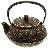 Iwachu Japanese Iron Teapot/Tetsubin, Gold and...