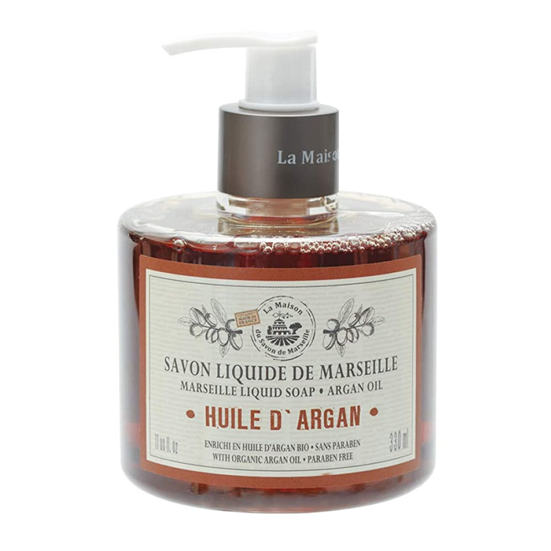 応答見分けるルネッサンスノルコーポレーション マルセイユ石鹸 リキッドソープ 330ml アルガンオイルの香り MLL-1-5