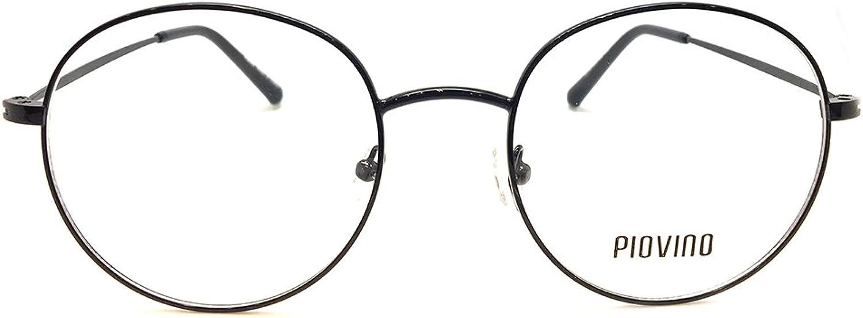 New Design Piovino RX Eyeglasses Frames Pv 5502 Black Round Metal Frames