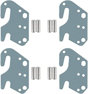 CAFORO Universal Wood Bed Rail Hook Plates for Beds Frame Bracket Headboard Footboard Replacement Wooden Bed Parts or New Bed Constructions - Set of 4