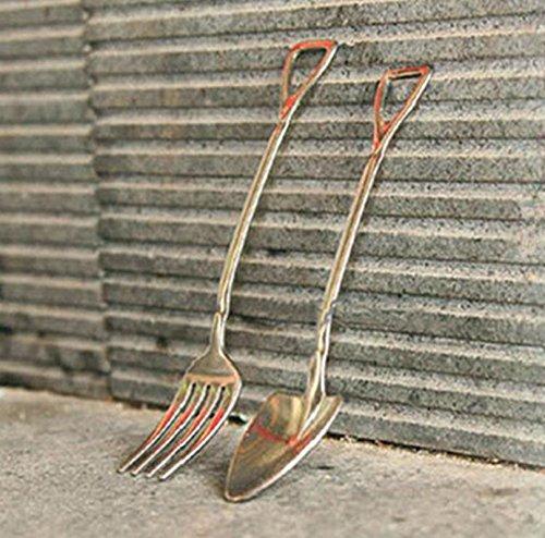 cosanter 2 piezas cubertería infantil (Acero Inoxidable Cuchara Tenedores Cubertería: Amazon.es: Hogar