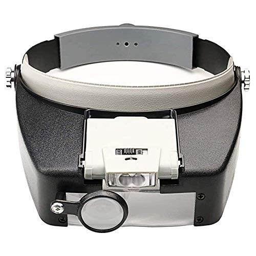 Beileshi Head Magnifier LED Illuminated Multi-Power Helmet Magnifying 1.5X 3X 8.5X 10x Magnifying Tools for Watch Repair, Arts & Crafts or As General Reading Aid
